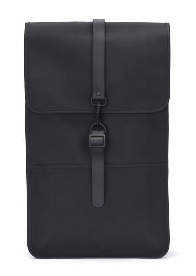 Rains Backpack, Black, front